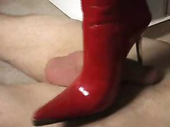 handjob leather boots
